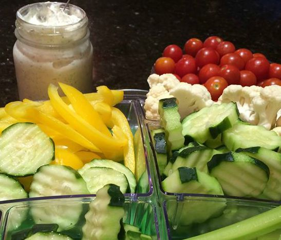 vegetable dip with veggies  cropped