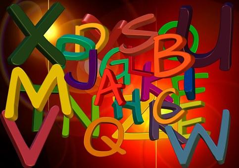 Alphabet letters for building blocks of parenting