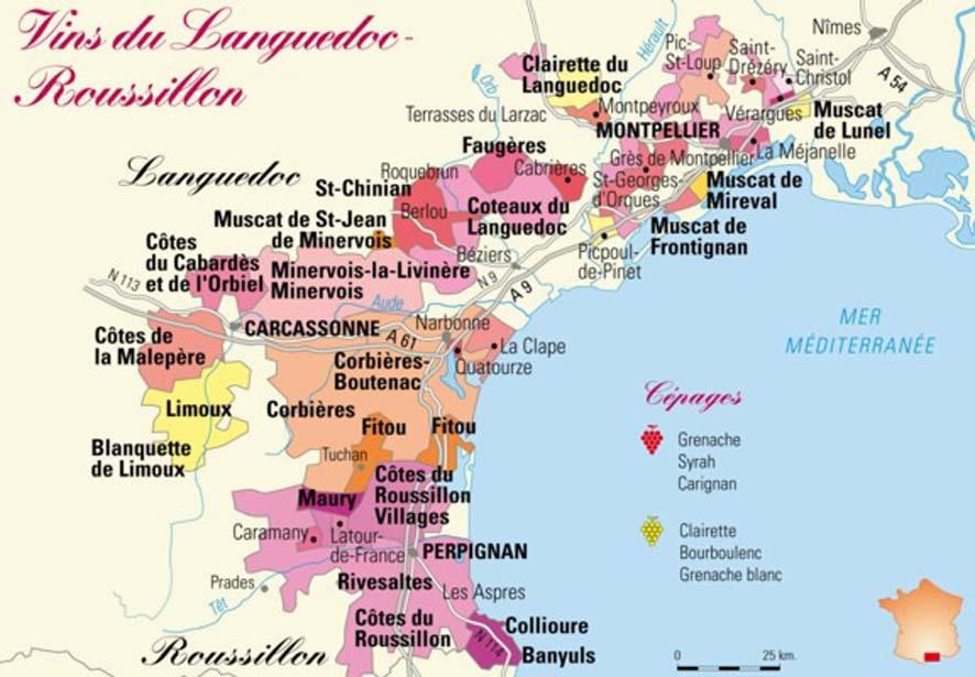 """Primeira fotogarfia publicada no artigo Languedoc-Roussillon, o """"patinho feio"""" das regiões vinícolas francesas se transformou num belo cisne!"""