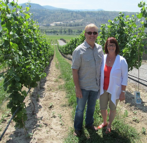 Ed and Vicki Collett from Harper's Trail Estate Winery