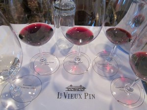 Le Vieux Pin Equinoxe wine flight