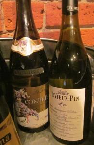 Le Vieux Pin Ava and Guigal La Dorian Condrieu