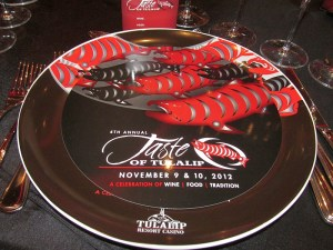 Taste of Tulalip plate at Celebration Dinner