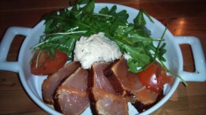 Edible Canada - seared tuna with rocket salad