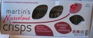 pumpkin seed cranberry crisps