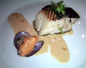 Black cod miso infused and mussel