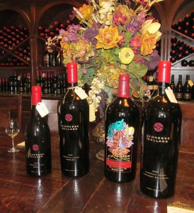A beautiful lineup of Leoness Cellars red wines