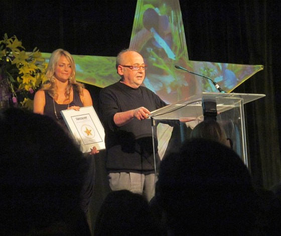 Alain Raye accepting award for Best North Shore restaurant
