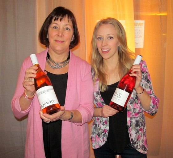 Christine and Alana happy to pour Haywire and Bartier Scholefield wines
