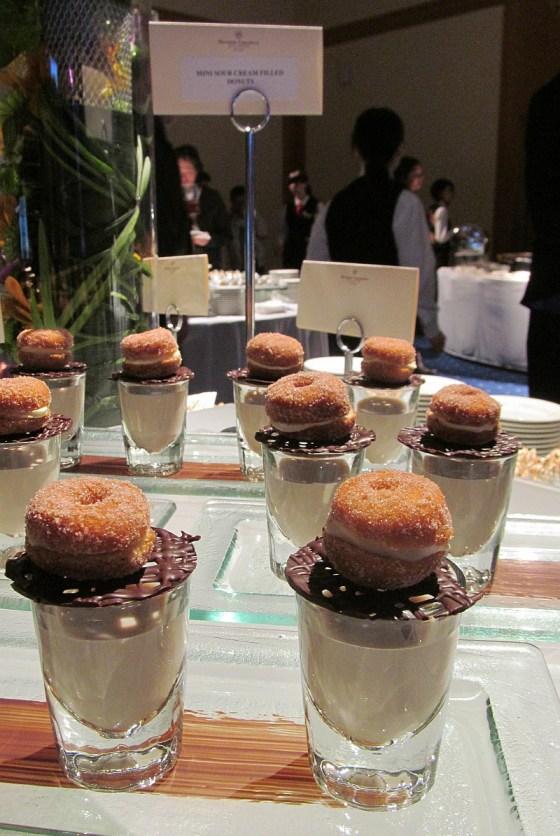 Mini sour cream filled donuts