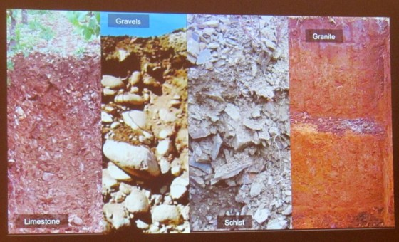 Limestone, Gravel, Schist, and Granite soil profiles