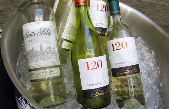 Santa Rita 120 Chardonnay Sauvignon Blanc and Reserva Sauvignon Blanc