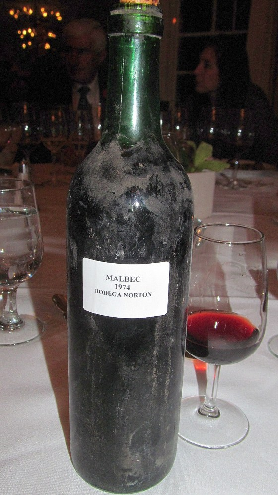 1974 Malbec in glass and bottle