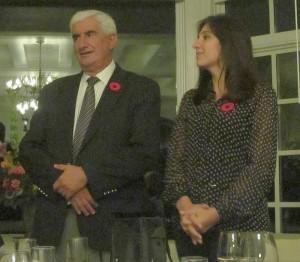 Jorge Riccitelli and Julia from Bodega Norton
