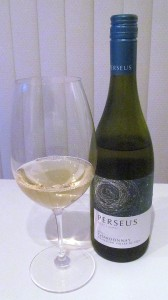 Perseus Select Lots Chardonnay 2011 with wine glass