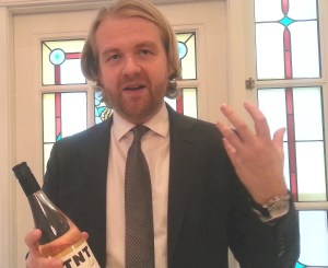 Terry Threlfall with his TNT wine