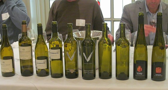 Sampling Okanagan wine