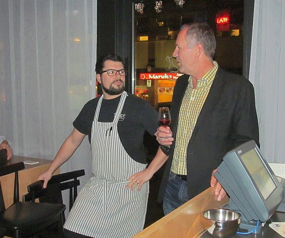 JAK Meyer and Chef Chris Whittaker talking about food and wine