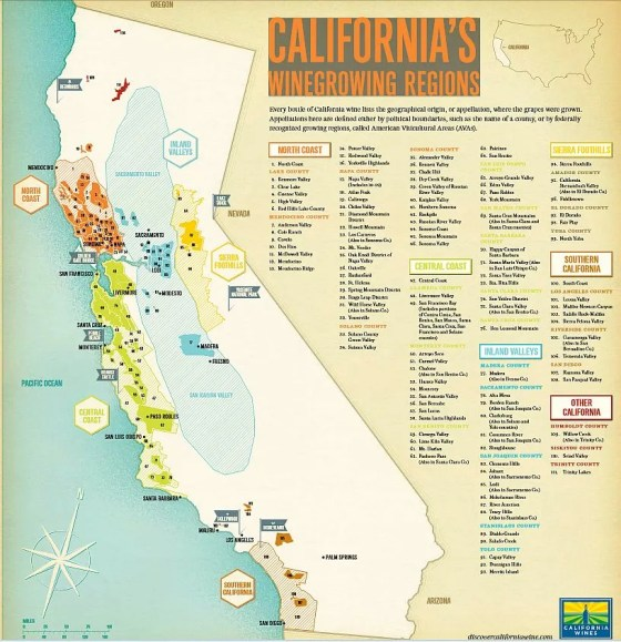 California wine region map
