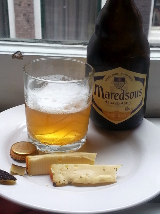 Maredsous Abbaye Blonde with Abjijkaas cheese
