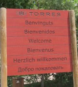 Torres welcome sign
