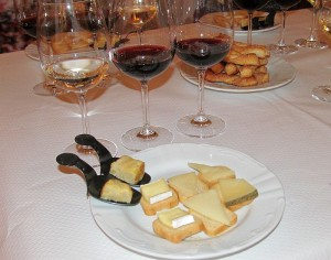 Torres wines with appetizers