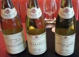 A flight of Bouchard Père & Fils white wines