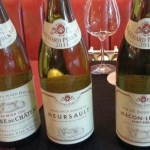 A flight of Bouchard Père & Fils white wines