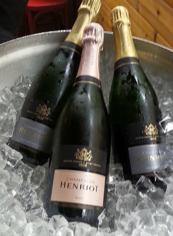 Champagne Henriot wines on ice