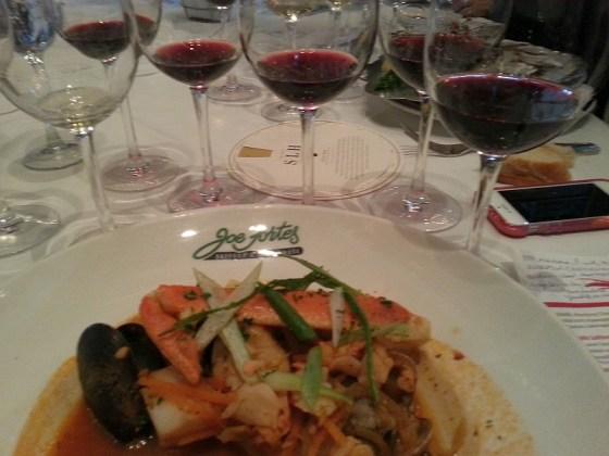 Cioppino at Joe Fortes and Hahn Family Wines