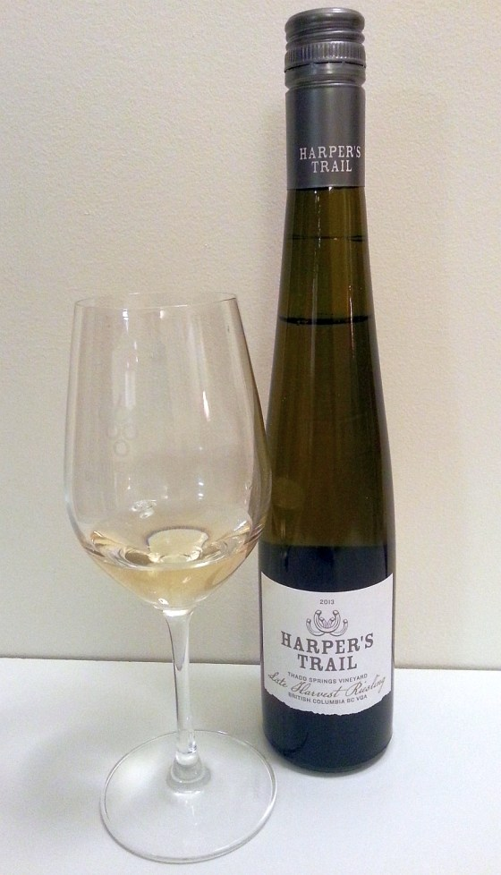 Harper's Trail Thadd Springs Vineyard Late Harvest Riesling 2013