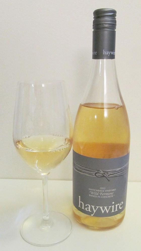 Haywire Switchback Vineyard Wild Ferment Chardonnay 2012