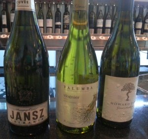 Janz, Yalumba, and Howard Park wines from Australia