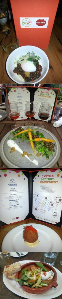 Fable, Forage, Campagnolo, and Cafe Medina with their lentil dishes