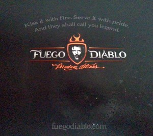 Fuego Diablo Premium Steaks box