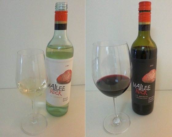 Mallee Rock Pinot Grigio and Shiraz Cabernet Sauvignon