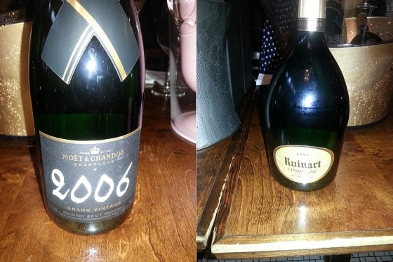 Moet & Chandon Grand Vintage 2006 and Ruinart R Champagne