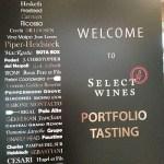 Select Wines Portfolio tasting