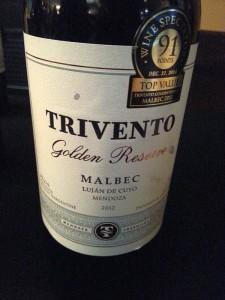 Trivento Golden Reserve Malbec 2012