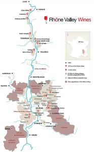 Rhone Valley map