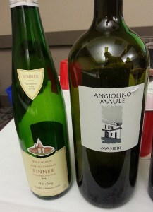 Audrey et Chrstian Binner Riesling and Angiolino Maule Masieri wines