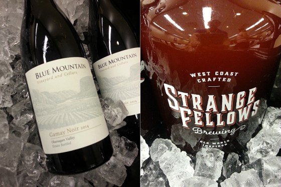 Blue Mountain Gamay Noir and Strange Fellows Obnoxious Little Persona Strawberry Berliner Weisse