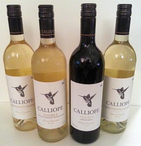 Calliope flight of wines