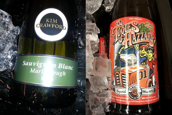 Kim Crawford Sauvignon Blanc and Parallel 49 The Toques of Hazzard Imperial White IPA