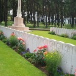 Rows of headsstones in a Canadian soldier cemetary