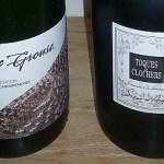 Blue Grouse Estate Winery Paula 2012 and Sieur d Arques Toques et Clochers Cremant sparkling wines labels