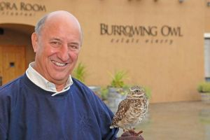 Jim Wyse with a Burrowing Owl