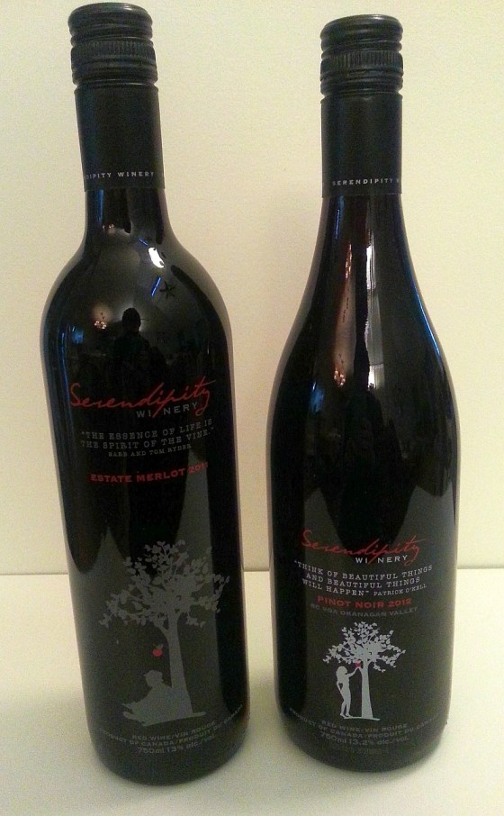 Serendipity Winery Estate Merlot and Pinot Noir