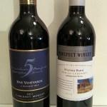 Mission Hill 5 Vineyards Cabernet Merlot and Ganton & Larsen Prospect Winery Haynes Barn Merlot Cabernet wines