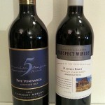Mission Hill 5 Vineyards Cabernet Merlot and Ganton & Larsen Prospect Winery Haynes Barn Merlot Cabernet wines
